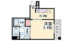 JR東海道・山陽本線 神戸駅 徒歩11分の賃貸マンション 4階1Kの間取り