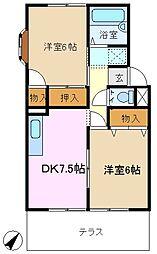 第2松慶ハイツ[1階]の間取り