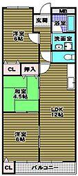 リトルバレイA[2階]の間取り