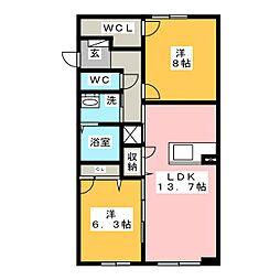 ROYAL YORK IV A棟[1階]の間取り