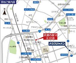 現地案内図。