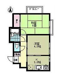 コトーヴァンベール[2階]の間取り