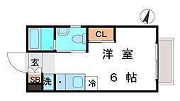 東京都新宿区中井2丁目の賃貸アパートの間取り