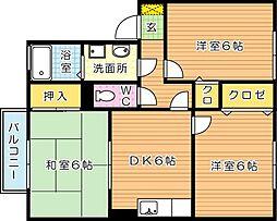 セジュール木屋瀬[2階]の間取り