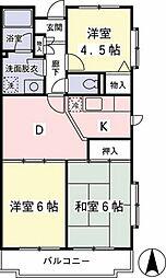 京王ラフィネ橋本[2階]の間取り
