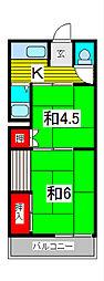 第2長澤荘[2階]の間取り