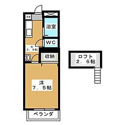 HIコーポ・5[2階]の間取り