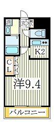 グリーンキャッスルII[1階]の間取り