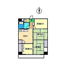 エスコートいさむII[2階]の間取り