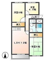セントラルハイツ[4階]の間取り