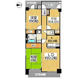 コスモ三条麩屋町[3階]の間取り