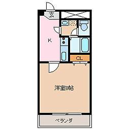 ロンサール竹淵[3階]の間取り