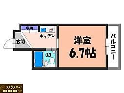 グランビルト堺東[5階]の間取り