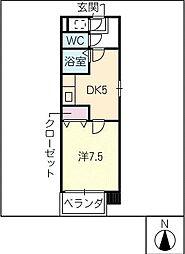 燦新町[8階]の間取り