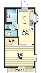 ハウスK&M[1階]の間取り