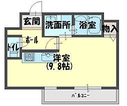 ウィステリアコート守口[10階]の間取り