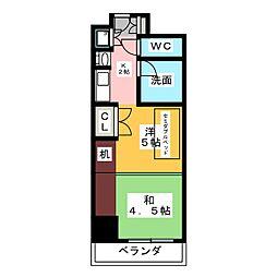 プログレンス栄[5階]の間取り