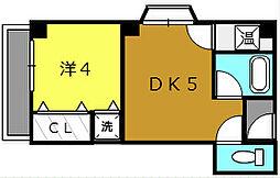 スカイコート堺[305号室]の間取り