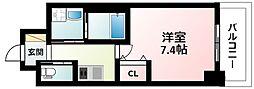 Osaka Metro御堂筋線 江坂駅 徒歩5分の賃貸マンション 3階1Kの間取り