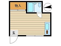 東京都文京区目白台1丁目の賃貸アパートの間取り