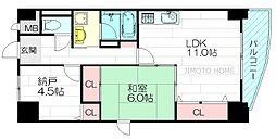 ハウスオブロゼ[5階]の間取り