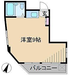 東京都北区田端3丁目の賃貸マンションの間取り