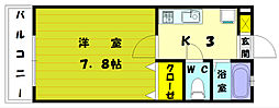 スバル館 B[2階]の間取り
