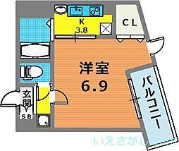 アネスト神戸西元町[4階]の間取り