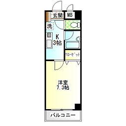 サニープラザ[4階]の間取り