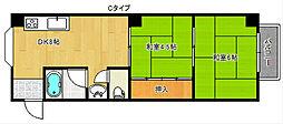 コーポ吉野家[4階]の間取り
