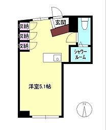 東京都八王子市元本郷町3丁目の賃貸アパートの間取り