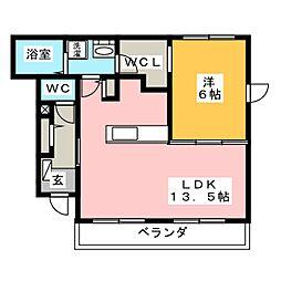 コニファーガーデン[1階]の間取り