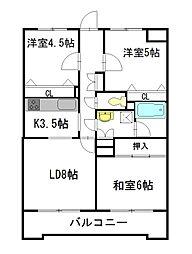 パークプラザ松島[5階]の間取り