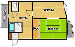 兵庫県神戸市兵庫区北逆瀬川町の賃貸マンションの間取り