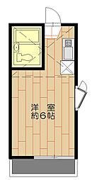 コーポ青木第2[2階]の間取り