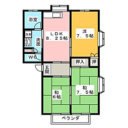 トミタメゾンG[1階]の間取り
