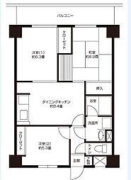 ロイヤルハイム武蔵新城[405号室]の間取り