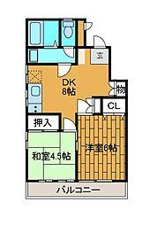 神奈川県相模原市南区上鶴間3丁目の賃貸アパートの間取り
