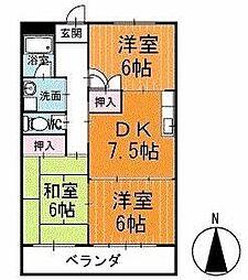マンション寿 2階[202号室]の間取り