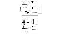 [テラスハウス] 兵庫県姫路市田寺東2丁目 の賃貸【/】の間取り
