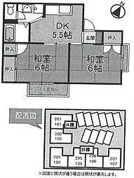 カーサ・デ・ソル[A102号室]の間取り