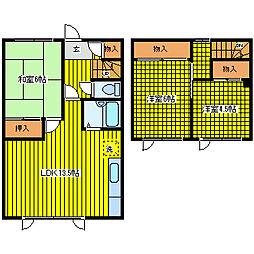 [タウンハウス] 北海道札幌市東区東苗穂十条3丁目 の賃貸【/】の間取り
