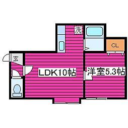 ライブヒルズジェーム[3階]の間取り