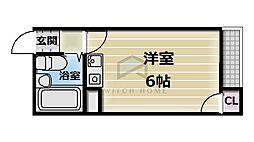 ルモン新深江[5階]の間取り
