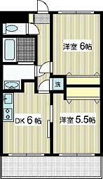 レフォール登戸[2階]の間取り