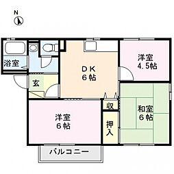 ファミールTAGAYA E棟[202号室号室]の間取り