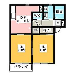 ルミエルA棟[1階]の間取り