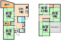 [一戸建] 兵庫県伊丹市昆陽泉町6丁目 の賃貸【/】の間取り