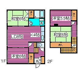 [一戸建] 北海道札幌市北区太平二条4丁目 の賃貸【/】の間取り