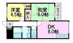 グランディア ミ・アモーレ南塚口[5階]の間取り